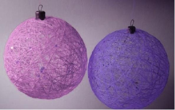 Елочные игрушки своими руками с шарами 46