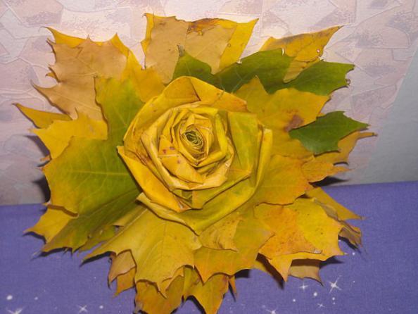 Подёлки из кленовых листьев